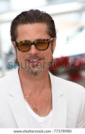 CANNES, FRANCE - MAY 16: Brad Pitt attends 'The Tree Of Life' photocall during the 64th Annual Cannes Film Festival at Palais des Festivals on May 16, 2011 in Cannes, France
