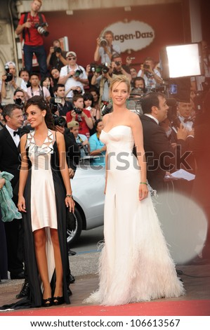 "CANNES, FRANCE - MAY 11, 2011: Cannes Jury member Uma Thurman at the gala premiere for ""Midnight in Paris"" the opening film at the 64th Festival de Cannes. May 11, 2011  Cannes, France - stock photo"