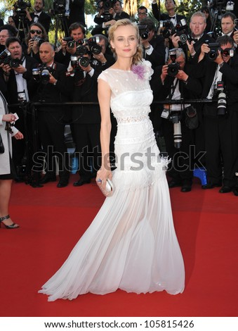 "CANNES, FRANCE - MAY 22, 2012: Diane Kruger at the premiere of ""Killing Them Softly"" in Cannes. May 22, 2012  Cannes, France"