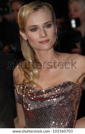 CANNES, FRANCE - MAY 20: Diane Kruger attends the 'Amour' Premiere during the 65th Annual Cannes Film Festival at Palais des Festivals on May 20, 2012 in Cannes, France.