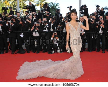 CANNES, FRANCE - MAY 16, 2012: Eva Longoria at the premiere of Moonrise Kingdom - the gala opening of the 65th Festival de Cannes. May 16, 2012  Cannes, France