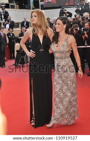 """CANNES, FRANCE - MAY 17, 2009: Evangeline Lilly & Doutzen Kroes (left) at the premiere of """"Vengeance"""" in competition at the 62nd Festival de Cannes."""