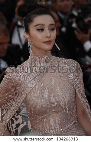 CANNES, FRANCE - MAY 17: Fan Bingbing attends the 'De Rouille et D'os' Premiere during the 65th Annual Cannes Film Festival at Palais des Festivals on May 17, 2012 in Cannes, France.