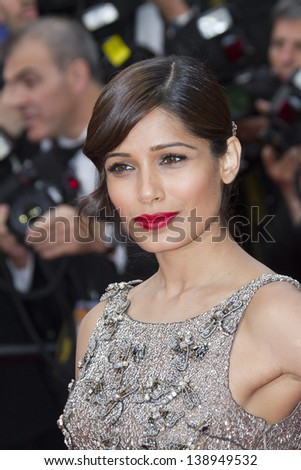 CANNES, FRANCE - MAY 16: Frieda Pinto attends the Premiere of 'Jeune & Jolie' (Young & Beautiful) at The 66th Annual Cannes Film Festival at Palais des Festivals on May 16, 2013 in Cannes, France.