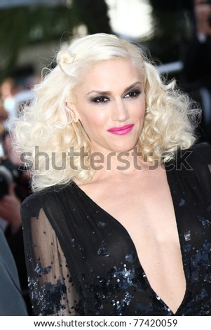 CANNES, FRANCE - MAY 16: Gwen Stefani attends 'The Tree Of Life' premiere during the 64th Annual Cannes Film Festival at Palais des Festivals on May 16, 2011 in Cannes, France.