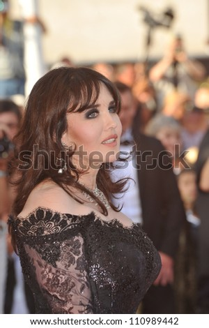 CANNES, FRANCE - MAY 24, 2009: Isabelle Adjani at the closing awards gala at the 62nd Festival de Cannes.