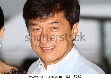 CANNES, FRANCE - MAY 18: Jackie Chan attend the 'Chinese Zodiac' photocall during the 65th Cannes Film Festival at Carlton Hotel on May 18, 2012 in Cannes, France.