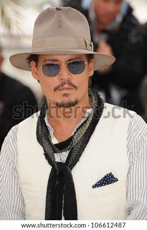 "CANNES, FRANCE - MAY 14, 2011: Johnny Depp at the photocall for his movie ""Pirates of the Caribbean: On Stranger Tides"" at the 64th Festival de Cannes. May 14, 2011  Cannes, France"