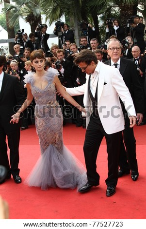 CANNES, FRANCE - MAY 14: Johnny Depp; Penelope Cruz  attends the 'Pirates of the Caribbean: On Stranger Tides' premiere at the Palais  during the 64 Cannes  Festival on May 14, 2011 in Cannes, France