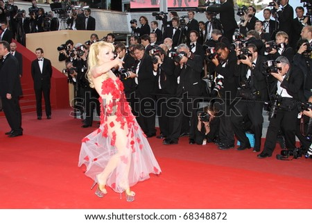 CANNES, FRANCE - MAY 13: Julie Atlas Muz attends the premiere of 'On Tour' held at the Palais des Festivals during the 63rd Cannes Film Festival on May 13, 2010 in Cannes, France