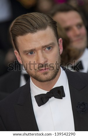 CANNES, FRANCE - MAY 19: Justin Timberlake attends 'Inside Llewyn Davis' Premiere during the 66th Cannes Film Festival at Palais des Festivals on May 19, 2013 in Cannes, France.