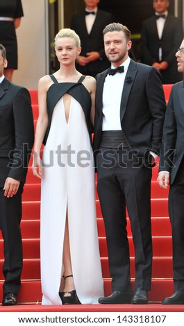 "CANNES, FRANCE - MAY 19, 2013: Justin Timberlake & Carey Mulligan at the gala screening for their movie ""Inside Llewyn Davis"" in competition at the 66th Festival de Cannes."