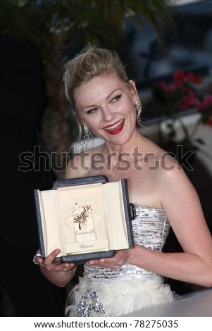 CANNES, FRANCE - MAY 22: Kirsten Dunst attends the Palme D'Or Winners Photocall at the 64th Annual Cannes Film Festival at Palais des Festivals on May 22, 2011 in Cannes, France