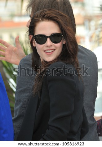 "CANNES, FRANCE - MAY 23, 2012: Kristen Stewart at the photocall for her new movie ""On The Road"" in Cannes. May 23, 2012  Cannes, France"