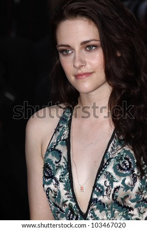 CANNES, FRANCE - MAY 23: Kristen Stewart attends the 'On The Road' Premiere during the 65th Annual Cannes Film Festival at Palais des Festivals on May 23, 2012 in Cannes, France.