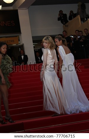 CANNES, FRANCE - MAY 20: Lady Victoria Hervey and Courtney Love attends the 'This Must Be The Place' Premiere during the 64 Cannes Festival at the Palais Festivals on May 20, 2011 in Cannes, France.