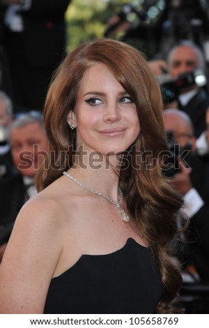 CANNES, FRANCE - MAY 16, 2012: Lana Del Rey at the premiere of Moonrise Kingdom - the gala opening of the 65th Festival de Cannes. May 16, 2012  Cannes, France