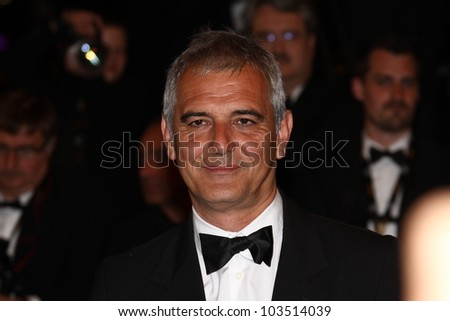 CANNES, FRANCE - MAY 23: Laurent Cantet attends the 'Holy Motors' Premiere during the 65th Annual Cannes Film Festival at Palais des Festivals on May 23, 2012 in Cannes, France.