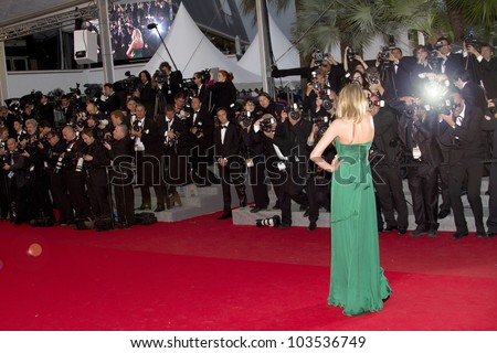 CANNES, FRANCE - MAY 25: Lily Donaldson attends the 'Cosmopolis' Premiere during the 65th Cannes Film Festival at Palais des Festivals on May 25, 2012 in Cannes, France
