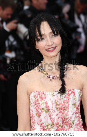 CANNES, FRANCE - MAY 17: Maria de Medeiros attends the 'De Rouille et D'os' Premiere during the 65th  Cannes Film Festival at Palais des Festivals on May 17, 2012 in Cannes, France.