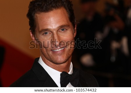 CANNES, FRANCE - MAY 26: Matthew McConaughey attends the 'Mud' Premiere during the 65th Annual Cannes Film Festival at Palais des Festivals on May 26, 2012 in Cannes, France.