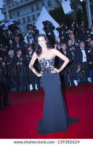 CANNES, FRANCE - MAY 18: Megan Gale attends the Premiere of 'Jimmy P. (Psychotherapy Of A Plains Indian)' at The 66th Annual Cannes Film Festival on May 18, 2013 in Cannes, France.