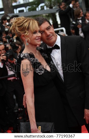 CANNES, FRANCE - MAY 11: Melanie Griffith and Antonio Banderas attend the Opening Ceremony during the 64th Cannes Film Festival at Palais des Festivals on May 11, 2011 in Cannes, France.