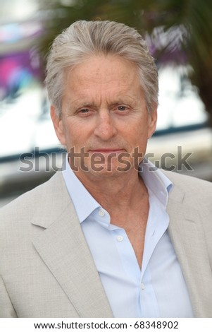 CANNES, FRANCE - MAY 14: Michael Douglas attends the 'Wall Street: Money Never Sleeps' Photo Call held at the Palais des Festivals during the 63rd Cannes  Festival on May 14, 2010 in Cannes, France