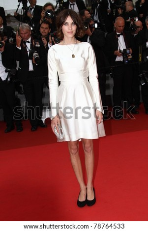 CANNES, FRANCE - MAY 12: Model Alexa Chung arrives at the 'Sleeping Beauty' premiere during the 64th Annual Cannes Film Festival at the Palais des Festivals on May 12, 2011 in Cannes, France.