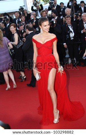 CANNES, FRANCE - MAY 22: Model Irina Shayk attends the 'Killing Them Softly' Premiere during 65th Annual Cannes Film Festival at Palais des Festivals on May 22, 2012 in Cannes, France.