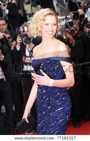 CANNES, FRANCE - MAY 11: Model Karolina Kurkova attends the  Ceremony and 'Midnight In Paris' Premiere at the Palais des Festivals during the 64 Cannes Film Festival on May 11, 2011 in Cannes, France - stock photo
