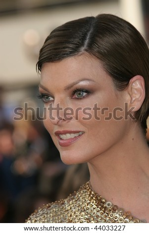 CANNES, FRANCE - MAY 18: Model Linda Evangelista attends the 'Indiana Jones  premiere at the Palais des Festivals during the 61st Cannes  Film Festival on May 18, 2008 in Cannes, France.