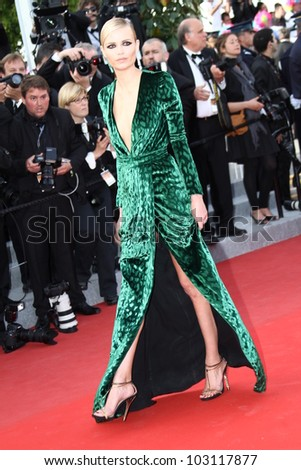 CANNES, FRANCE - MAY 18: Natasha Poly attends the 'Once Upon A Time' Premiere during 65th Annual Cannes Film Festival during at Palais des Festivals on May 18, 2012 in Cannes, France. - stock photo