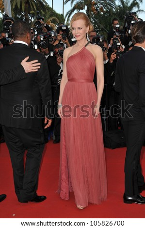 "CANNES, FRANCE - MAY 24, 2012: Nicole Kidman at the gala screening of her new movie ""The Paperboy"" in Cannes. May 24, 2012  Cannes, France"