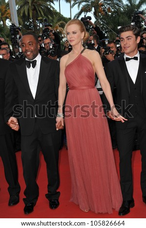 "CANNES, FRANCE - MAY 24, 2012: Nicole Kidman, Zac Efron & Lee Daniels at the gala screening of their new movie ""The Paperboy"" in Cannes. May 24, 2012  Cannes, France"