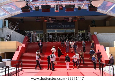 CANNES, FRANCE - MAY 17: Palais des Festivals during the 63rd  Cannes Film Festival on May 17, 2010 in Cannes, France