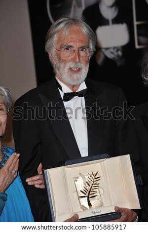 CANNES, FRANCE - MAY 27, 2012: Palme D'Or winner Michael Haneke at the winners' photocall at the closing awards gala at the 65th Festival de Cannes. May 27, 2012  Cannes, France