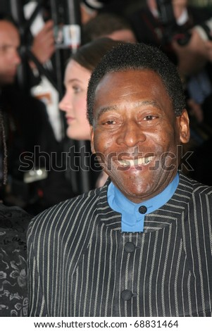 CANNES, FRANCE - MAY 18: Pele attends the screening of 'Peindre Ou Faire L'Amour' at the Palais during the 58th International Cannes Film Festival May 18, 2005 in Cannes, France - stock photo