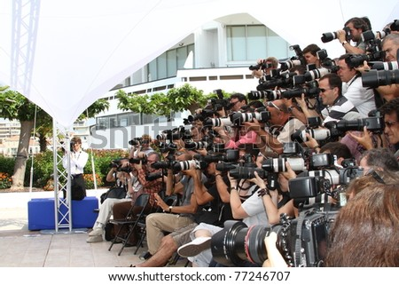 CANNES, FRANCE - MAY 12: Photographer attend the Un Certain Regard Jury Photocall during the 64th Annual Cannes Film Festival on May 12, 2011 in Cannes, France