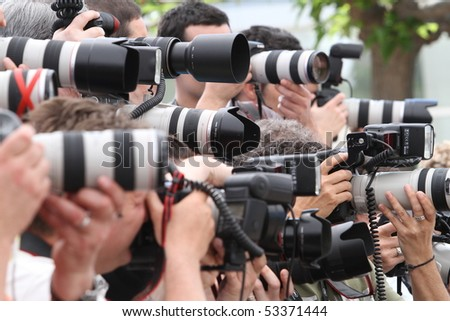 CANNES, FRANCE - MAY 17: Photographers attend a Photo Call held at the Palais des Festivals during the 63rd  Cannes Film Festival on May 17, 2010 in Cannes, France