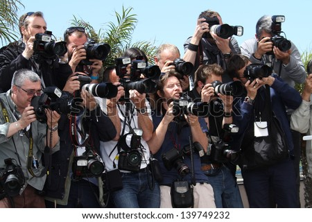 CANNES, FRANCE - MAY 21: Photographers attend the 'Ne Quelque Part' Photocall during The 66th Annual Cannes Film Festival at the Palais des Festivals on May 21, 2013 in Cannes, France.