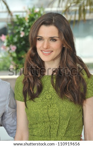 "CANNES, FRANCE - MAY 17, 2009: Rachel Weisz  at the photocall for her new movie ""Agora"""