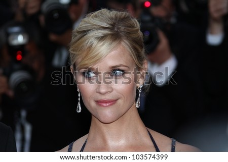 CANNES, FRANCE - MAY 26: Reese Witherspoon attends the 'Mud' Premiere during the 65th Annual Cannes Film Festival at Palais des Festivals on May 26, 2012 in Cannes, France.