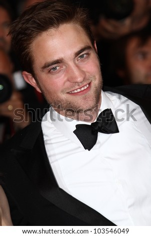 CANNES, FRANCE - MAY 25: Robert Pattinson attends the 'Cosmopolis' Premiere during the 65th Cannes Film Festival at Palais des Festivals on May 25, 2012 in Cannes, France