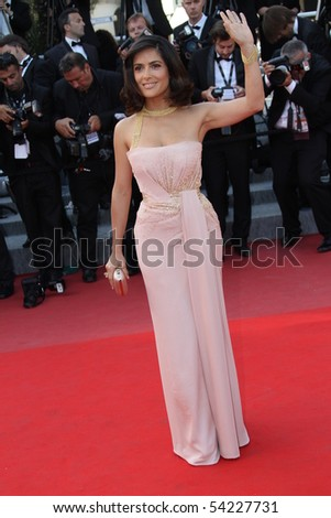 CANNES, FRANCE - MAY 23: Salma Hayek attends the Palme d'Or Closing Ceremony held at the Palais des Festivals during the 63rd  Cannes Film Festival on May 23, 2010 in Cannes, France