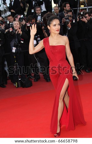 CANNES, FRANCE - MAY 14: Salma Hayek attends the Premiere of 'Wall Street 2' held at the Palais des Festivals during the 63rd Cannes Film Festival on May 14, 2010 in Cannes, France