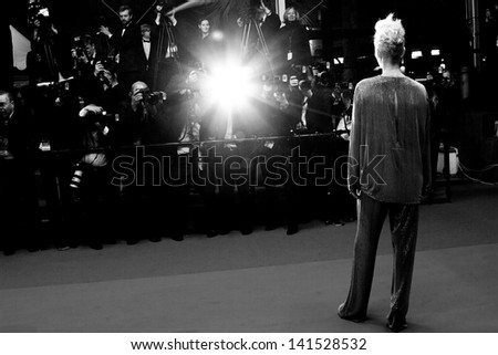 CANNES, FRANCE - MAY 25: Tilda Swinton attends the Premiere of 'Only Lovers Left Alive' during the 66th Annual Cannes Film Festival at the Palais des Festivals on May 25, 2013 in Cannes, France.
