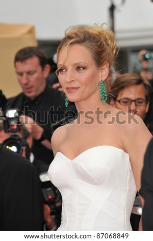 "Cannes Jury member Uma Thurman at the gala premiere for ""Midnight in Paris"" the opening film at the 64th Festival de Cannes. May 11, 2011  Cannes, France Picture: Paul Smith / Featureflash"