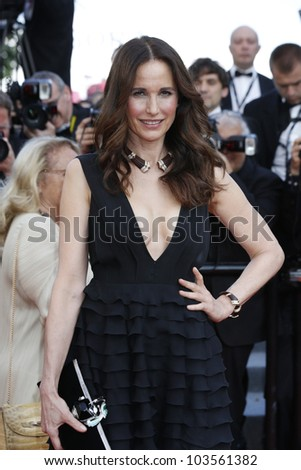 CANNES  - MAY 26: Andie Macdowell at the premiere of 'Mud' during the 65th Cannes Film Festival on May 26, 2012 in Cannes, France