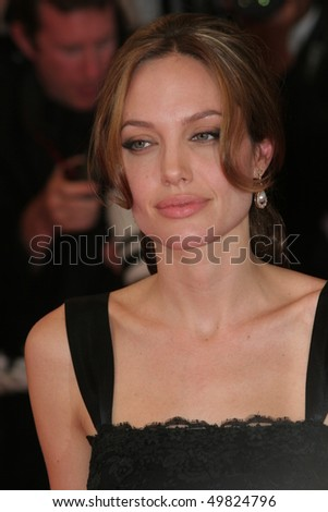 CANNES- MAY 21: Angelina Jolie attends the screening of A Mighty Heart produced by Brad Pitt with Angelina Jolie,on the Red Carpet,on May 21 2007 in Cannes, France